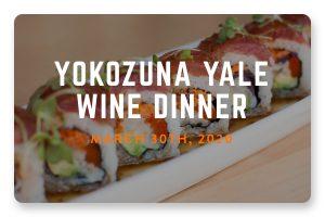 Yokozuna on Yale Wine Dinner 2020